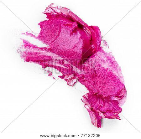 Hot Pink Lipstick Smear