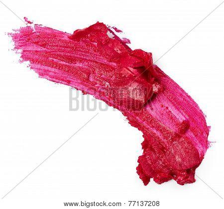 Pink Lipstick Smear