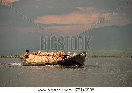 Transportation In Inle Lake,myanmar.