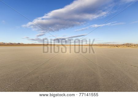 El Mirage dry lake bed in California's Mojave desert.