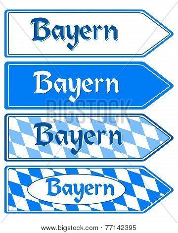 Signpost Bayern