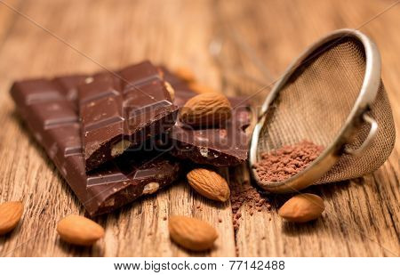 Dark Chocolate And Almonds