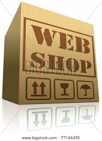 online shop internet webshop icon