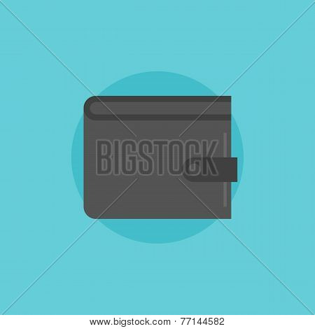 Wallet Flat Icon Illustration