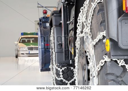 Truck with Snow Chains