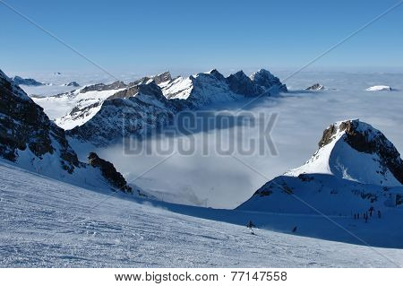 Skiing Above The Fog