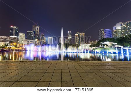 music fountain  in the square of KLCC,kuala lumpur.