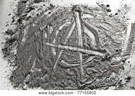 Anarchy Sign Made Of Ash