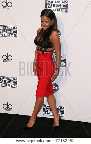LOS ANGELES - NOV 23:  Christina Milian at the 2014 American Music Awards - Press Room at the Nokia Theater on November 23, 2014 in Los Angeles, CA
