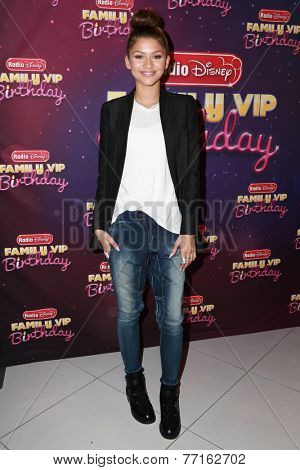 LOS ANGELES - NOV 22:  Zendaya Coleman at the Radio Disney's Family VIP Birthday at the Club Nokia on November 22, 2014 in Los Angeles, CA