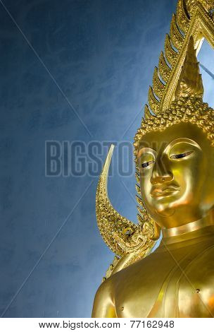 The Famous Golden Buddha Statue In Wat Benchamabophit In Bangkok, Thailand
