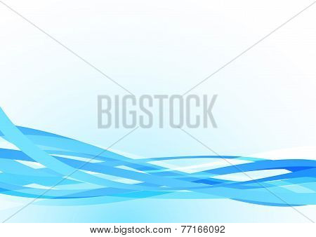 Bright Blue Lines Abstract Stream Speed Background