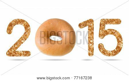 2015 Numeric From Natural Sugar And Donut Topped By Sugar Frosting