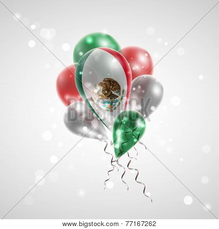 Flag of Mexico on balloon