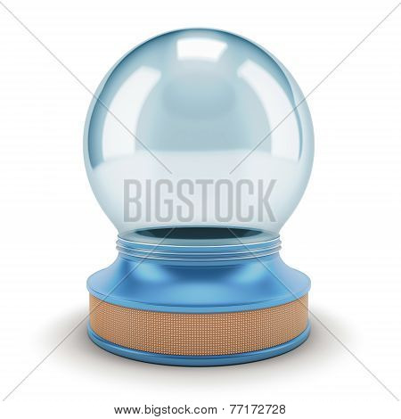 Visualization Of An Empty Snow Globe.