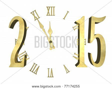 Happy new year 2015 - clock concept