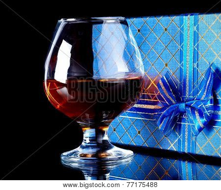 Alcohol And Gift Box.