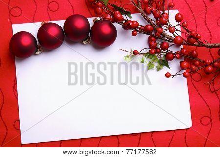 Christmas card & balls