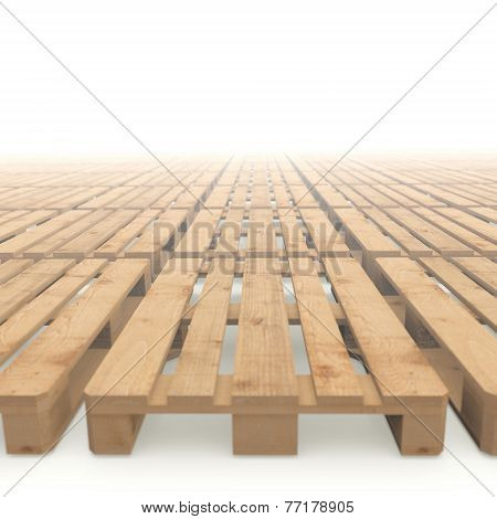 Wooden Pallets Stacked To The Horizon