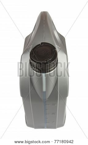 Lubricants bottle 4 liter isolated on white