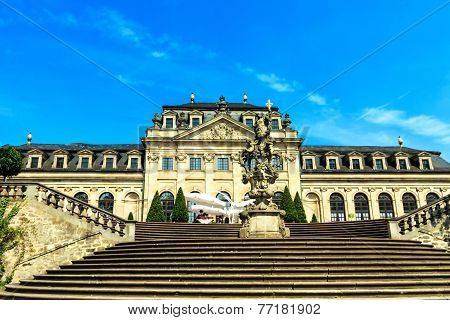 Orangery Terrace in the castle garden in Fulda, Germany