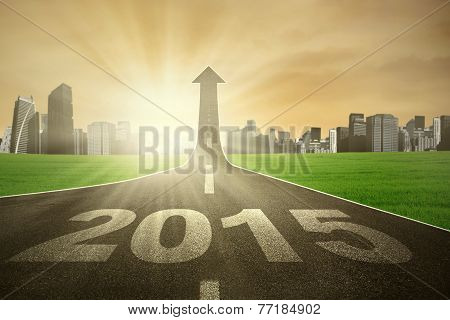 Highway Going Up With Number 2015