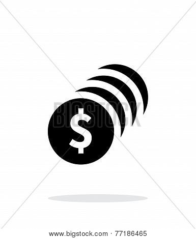 Coins with dollar sign simple icon on white background.