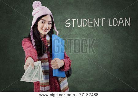 Student Giving Money Dollars