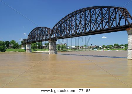 Railroad Bridge Over Ohio 2