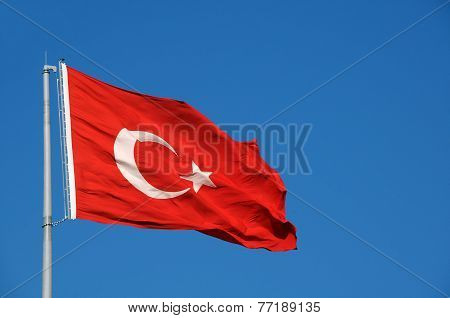 Turkish Flag In Th? Breeze