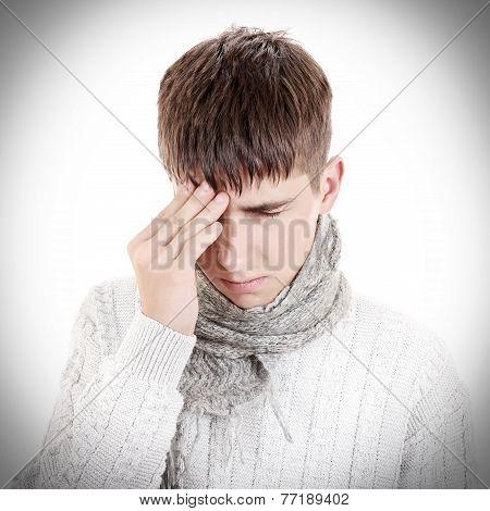 Sad Teenager Feel Headache