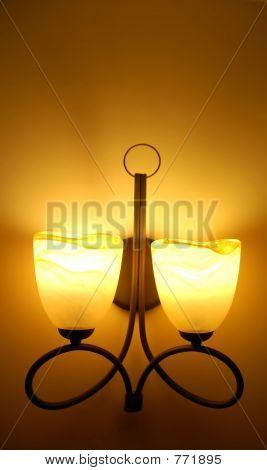 vintage lamp on wall