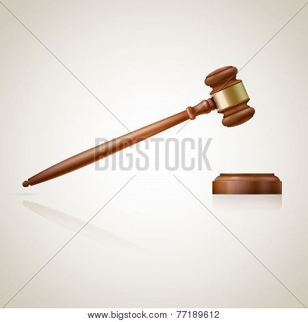A Wooden Judge Gavel And Soundboard