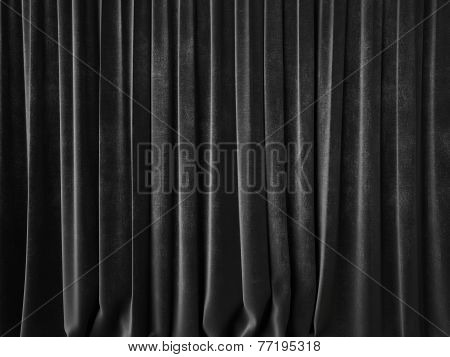 Dark Gray Curtain