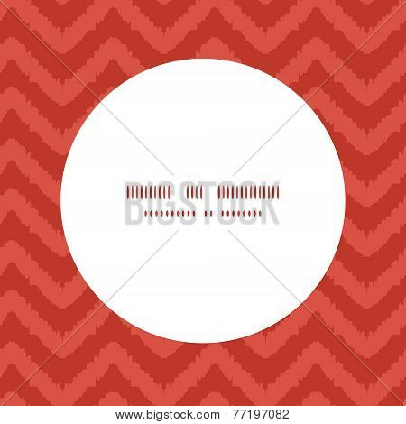 Vector colorful ikat chevron frame seamless pattern background