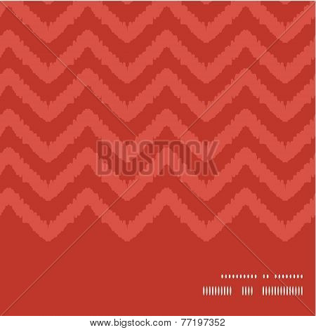 Vector colorful ikat chevron horizontal frame seamless pattern background