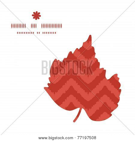 Vector colorful ikat chevron leaf silhouette pattern frame