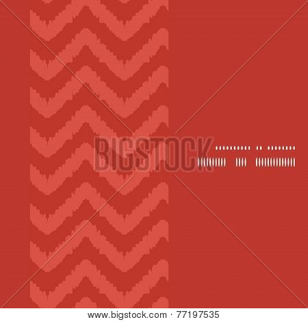 Vector colorful ikat chevron vertical frame seamless pattern background