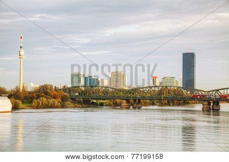 Vienna Financial District Cityscape