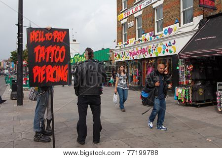 Camden Market, London.