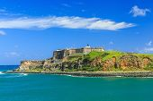 stock photo of san juan puerto rico  - El Morro Castle in San Juan - JPG