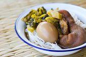 pic of thai cuisine  - Pork stewed in the sweet gravy and egg Chinese - JPG