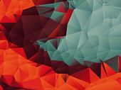 foto of polygon  - Abstract Polygons Shape Vector Background  - JPG