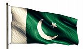 stock photo of pakistani flag  - Pakistan National Flag Isolated 3D White Background - JPG