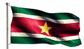 pic of suriname  - Suriname National Flag Isolated 3D White Background - JPG