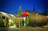 Постер, плакат: European Christmas Market Square