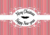 stock photo of candy cane border  - Candy cane label Merry christmas and happy new year - JPG