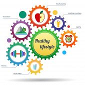 image of symbols  - A modern set of infographic and icons healthy lifestyle - JPG