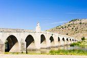 stock photo of medellin  - bridge in Medellin Badajoz Province Extremadura Spain - JPG