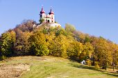 stock photo of banska  - pilgrimage church at Calvary Banska Stiavnica Slovakia - JPG
